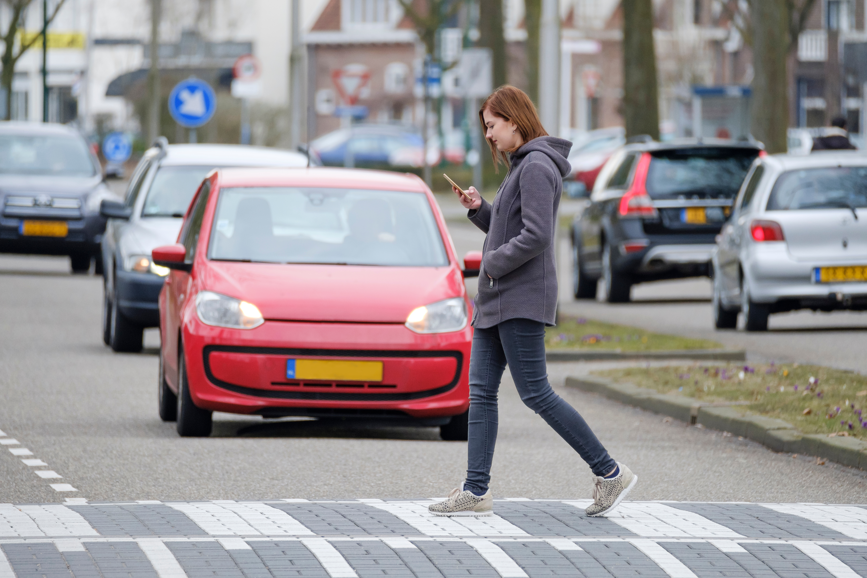 Distracted pedestrian