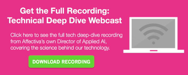 Affectiva science technical deep dive webcast